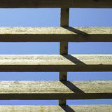 Large wooden beams Royalty Free Stock Images