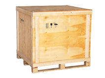 Large wooden box Royalty Free Stock Photos