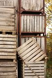 Large wooden crates Royalty Free Stock Image