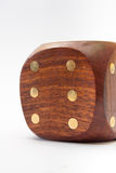 Large wooden dice on a white background Royalty Free Stock Images