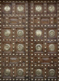 Large wooden doors decorated Stock Image