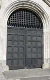 Large Wooden Fortress door Stock Images