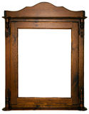 Large wooden frame. An isolated larger wooden frame Stock Photo