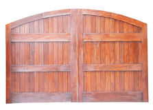 Large wooden gate isolated Royalty Free Stock Photos