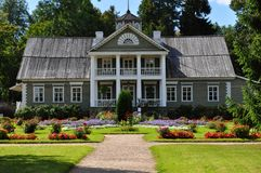 Large wooden house. Stock Photo