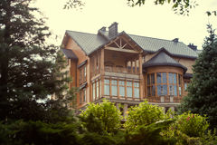 Large wooden house Royalty Free Stock Photo