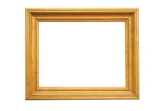 Large wooden picture frame Stock Images
