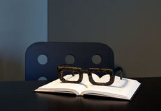 Large Wooden Reading Glasses On Book Royalty Free Stock Photo