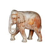 Large wooden sculpture - elephant walking Stock Photos