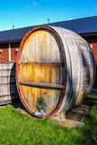 Large Wooden Wine Barrel Royalty Free Stock Photo