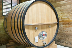 Large wooden wine keg Royalty Free Stock Photography