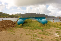 A large work pontoon at admiralty bay Stock Photography