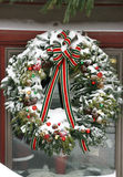 Large wreath with Snow Royalty Free Stock Photography