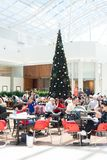 Shoppers at a mall in Australia, Christmas time stock photo