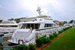 Large Yacht at the Dock Royalty Free Stock Photo