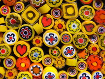 Large yellow beads stock image