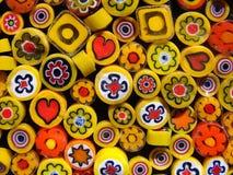 Large yellow beads Stock Image