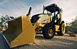 Large yellow bulldozer Stock Image