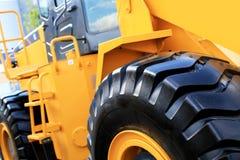 Large yellow bulldozer Stock Image