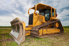 Large yellow bulldozer Stock Photos