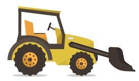 Large yellow bulldozer vector illustration. Stock Photo