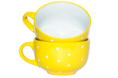 Large yellow cup Royalty Free Stock Image