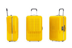Large Yellow Polycarbonate Suitcases Royalty Free Stock Photo
