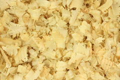 Large yellow sawdust  background Stock Photography