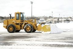 Large Yellow Snow Plow 2 Royalty Free Stock Image