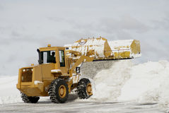 Large Yellow Snow Plow 3 Royalty Free Stock Images