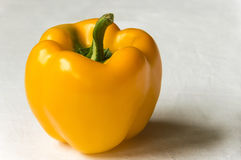 Large yellow sweet pepper. Ripe. Very juicy and tasty stock photo
