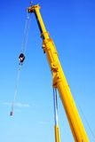 Large yellow telescopic crane Royalty Free Stock Photos