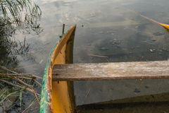 Largely sunken rowboat from close Royalty Free Stock Photo