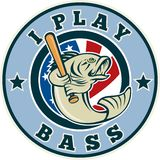 Largemouth bass baseball bat Stock Photos