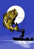 Largemouth Bass Fishing Stock Image