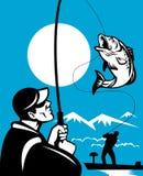 Largemouth Bass Fishing Stock Photos