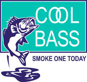 Largemouth bass jumping Royalty Free Stock Images