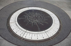 Larger-Than-Life Compass at U.S. Navy Memorial. Larger-than-life compass at the U.S. Navy Memorial in Penn Quarter in Washington, D.C. Photo made 30 March 2013 royalty free stock photo