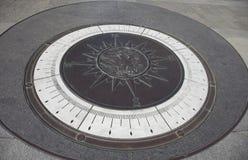 Larger-Than-Life Compass at U.S. Navy Memorial Royalty Free Stock Photo