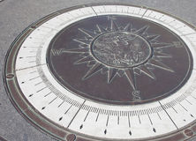Compass at the U.S. Navy Memorial Stock Image