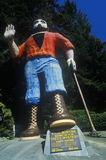 Larger than life statue of Paul Bunyan,  Klamath, CA Stock Photos