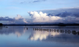 The largest artificial lake in Slovenia Stock Image