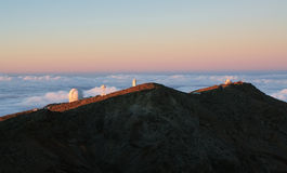 The largest astronomical observatory located in La Palma island Royalty Free Stock Photo