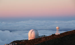 The largest astronomical observatory located in La Palma island Stock Photo