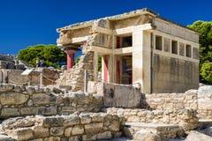 Knossos palace, Crete - Greece Stock Photos