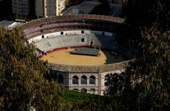 The largest bullring in Malaga in Spain Stock Images