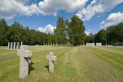 The largest cemetery of German soldiers in Poland, Siemianowice Śląskie stock image