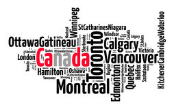 Largest census metropolitan areas in Canada Stock Photo