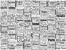 The largest cities in the world word cloud collage Stock Images