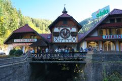 The largest cuckoo clock in the world in Triberg stock photography
